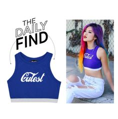 """The Daily Find: Minga Crop Top"" by polyvore-editorial ❤ liked on Polyvore featuring DailyFind"