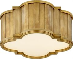 New Product: Tilden Flush Mount by Thomas O'Brien for Visual Comfort & Co. | Shown in Hand-Rubbed Antique Brass with White Glass