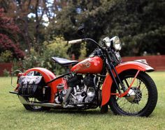 Classic Motorcycle Photograph 1947 Harley by ClassicMotorcycles