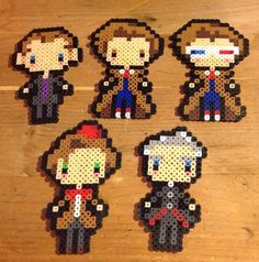 Doctor Who Perler Doctors by YattaCreations on DeviantArt