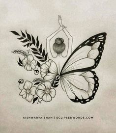 words of encouragement rebrand and rejuvenate our strength; they are tools that sharpen and spike positivity, growth, resilience, and perseverance. Pencil Art Drawings, Cool Art Drawings, Art Drawings Sketches, Unique Butterfly Tattoos, Tattoo Flash Art, Friend Tattoos, Diy Canvas Art, Mandala Art, Doodle Art