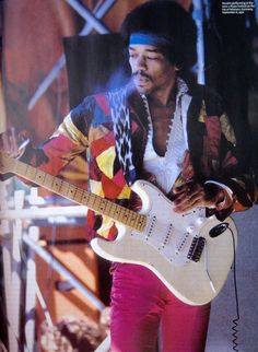 Jimi Hendrix 2 weeks before he died