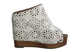 Jeffrey Campbell Vegan Virgo Crochet Platform shoes