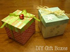 "DIY Gift Box tutorial MADE from 12""x12"" sized cardstock/scrapbook paper!"
