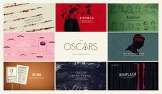 Directed & Designed by Henry Hobson with Elastic   The nomination package for the Best Picture Category in the 2015 Academy Awards, as part of a series of 20 different graphic title sequence packages for each category within the show. Commissioned by Show Producer Lee Lodge