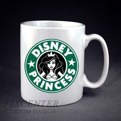 Starbucks Disney Princess Personalized mug/cup, Coffee mug/cup, Tea mug/cup, Ceramic mug/cup, Gift, Customized mug/cup by FixCenters