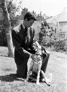 Jimmy Stewart- Click on this picture, scroll to the bottom to click on 25. to hear him read a poem he wrote about his dog.