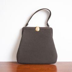 1950s 'Squirrel Away' brown felt handbag by Dorian