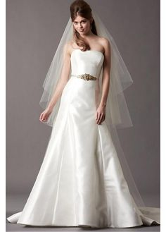 GORGEOUS SATIN STRETCH CHARMEUSE A-LINE STRAPLESS NECKLINE WEDDING DRESS SEXY LADY LACE FORMAL PROM BRIDESSMAID