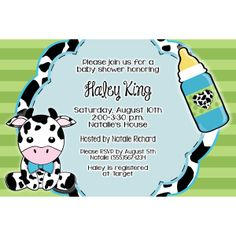 Cow Baby Shower Invitation Showers Themes Ideas