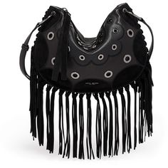 Henri Bendel Premium Dylan Fringed Crossbody ($34) ❤ liked on Polyvore featuring bags, handbags, shoulder bags, black, coin pouch, leather crossbody, leather crossbody purse, crossbody shoulder bag and zip coin purse
