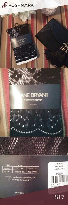 Lane Bryant Footless Leggings Fun fishnet print...see pic 3 for size info Lane Bryant Accessories Hosiery & Socks