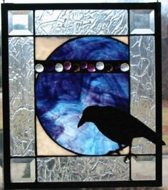 Nevermore  Raven Stained Glass | http://awesomepaiting.blogspot.com