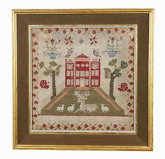 A late 18th century sampler, worked by Sarah Elizabeth Sharp