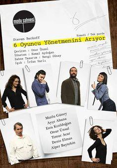 13.04.14: 6 Oyuncu Yönetmenini Arıyor - Steven Berkoff - Moda Sahnesi