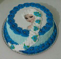 Cake Designs, Creme, Birthday Cake, Cakes, Desserts, Kids, Birthday Cakes, Decorating Cakes, Frozen Birthday