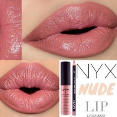 "Love this shade of ""nude"" lip. Hey Glammies here's our Tag a friend who loves a nudy pink lippie & comment Lips- Thomas oranje Cosmetics Lip Pencil ""Nude Pink"" Soft Matte Lip Cream ""Stockholm"" xoxo- Makeup To Buy, Love Makeup, Beauty Makeup, Drugstore Beauty, Hair Beauty, Mauve Lips, Pink Lips, Lipstick Colors, Lip Colors"