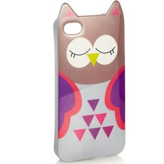 Accessorize Owl iPhone 4 Cover ($20) ❤ liked on Polyvore
