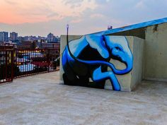 Elephant et Street Art dans les Villages d'Afrique du Sud Graffiti Wall Art, Street Art Graffiti, Graffiti Artists, Graffiti Lettering, Wall Mural, Art Fauvisme, Photographie Street Art, New York Graffiti, 3d Art