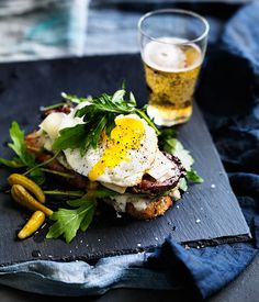 Australian Gourmet Traveller recipe for barbecued tri-tip steak sandwiches with anchovy mayo and provolone.
