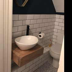 Cloakroom Sink, Bathroom Vanity Units, Rustic Bathroom Vanities, Bathroom Ideas, Bathroom Inspiration, Bathroom Interior, Floating Bathroom Sink, Garden Bathroom, Bathroom Inspo