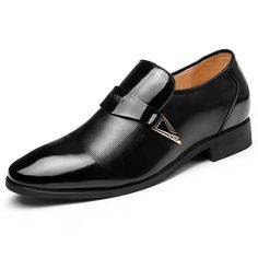 High quality leather men's elevator business dress shoe height increasing 6cm / 2.36inch wedding shoes