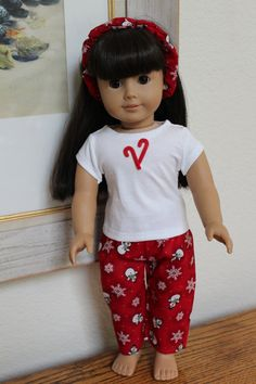 American Girl Doll Christmas Pajamas Sariahs by Sariahsdollcloset, $9.99