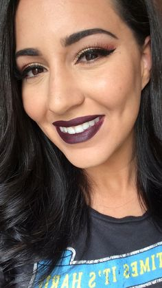 #TheBeautyBoard Makeup of the Day: DARK BERRY LIP by kylieann. Upload your look to gallery.sephora.com for the chance to be featured! #Sephora #MOTD