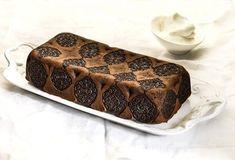 Κέικ με υγρή σοκολάτα και γεμιστά μπισκότα-featured_image Food Categories, Butter Dish, Sweet Recipes, Food To Make, Biscuits, Cheesecake, Sweets, Bread, Cookies
