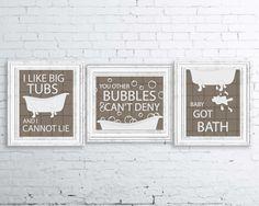 Hey, I found this really awesome Etsy listing at https://www.etsy.com/listing/261164199/bathroom-print-set-i-like-big-tubs-print