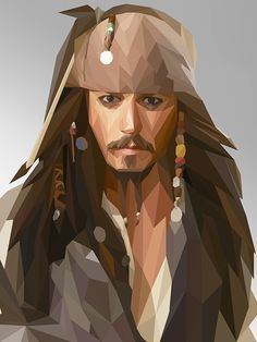 Jack Sparrow - Low Poly Art