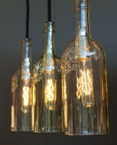 pendelleuchte flaschen groß abbild und eaedfaccfbbaef bottle lamps vintage bottles