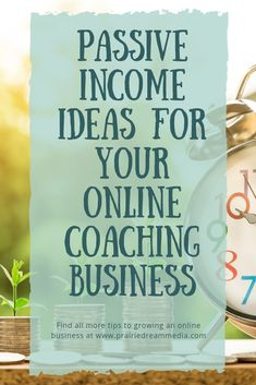 Passive incomes is money you earn without having to actively work for it. You do the majority of the work up front, but after a while, the amount of work needed is relatively small. So I want to go into tons of detail about passive income and what that re Coaching Personal, Life Coaching Tools, Online Coaching, Coaching Quotes, Leadership Quotes, Business Tips, Online Business, Business Coaching, Business Design