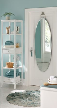 This easy-to-hang Over-door Beveled Door Mirror is the fairest of them all with a beautiful, frameless design that offers the utility of a full-length mirror, without drilling damaging holes into the walls or door.