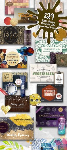 $29 / 3000+ Design Elements with Commercial License