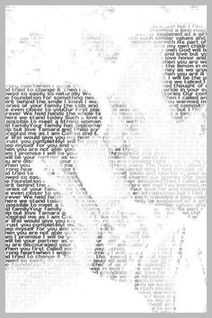 This wedsite allows you to turn your favorite words or song lyrics into a photo