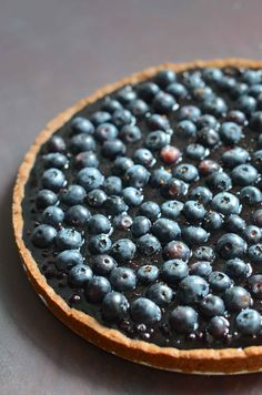 Blueberry Kuchen (Paleo, AIP) - the crust is made with sweet potato flour!
