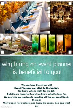 Event planners deals in all kinds of Decoration, Themes, Catering and having a specialty to manage all kinds of Corporate Events, Wedding Events and Live Shows, DJ, all can be with perfection and timing.Here find the best event planner for wedding and all occasions