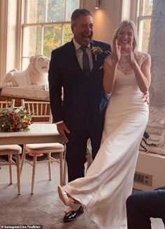 Newlywed bliss:The former EastEnders actress, 47,married the MasterChef judge, also 47, ...