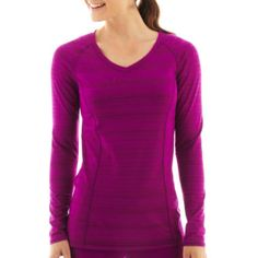 Xersion™ Long-Sleeve Barcode Tee  found at @JCPenney