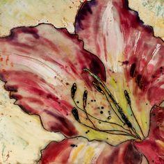 Daylily Encaustic