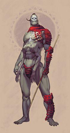 Martian Stickfighter, Ilya Golitsyn on ArtStation at https://www.artstation.com/artwork/martian-stickfighter