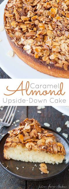 This easy upside-down cake is packed with almond flavour and has just the right amount of sweetness. A perfect pairing for your afternoon tea. | livforcake.com