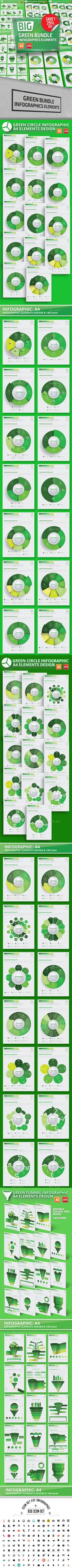 Bundle Green Infographic Elements - Infographics | DOWNLOAD : https://graphicriver.net/item/bundle-green-infographic-elements/20307562?ref=sinzo
