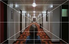 One-point perspective in Stanley Kubrick film.