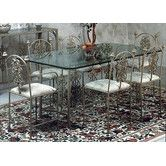 Found it at Wayfair - Rose Garden Dining Table Garden Coffee Table, Garden Dining Set, Dining Table In Kitchen, Dining Room Sets, Table And Chairs, Side Chairs, Wrought Iron Chairs, Large Table, Steel Table