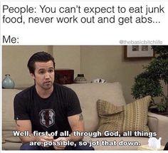 Memes Humor, Funny Humor, Hilarious Memes, Funny Stuff, Funny Food Memes, Funny Diet, Diet Meme, Fun Jokes, Funny Gym