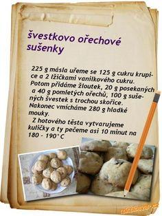 Švestkovo ořechové sušenky