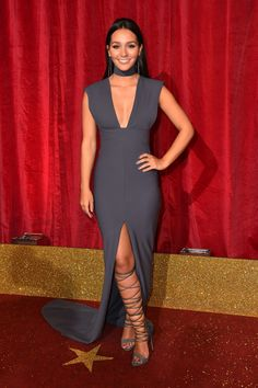 Nadine Mulkerrin - Candids at the 2016 British Soap Awards Held at Hackney Empire in London May 2016 Female Celebrity Crush, Soap Awards, Hollyoaks, Superstar, Legs, Celebrities, Rose, Dresses, Empire