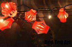Chinese New Year Craft: Chinese New Year Fairy Lights via RedTedArt.com